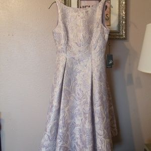 Adrianna Papell Lilac/Silver Dress